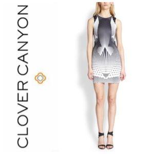 Clover Canyon Neoprene Bodycon Geo Dress Sz XS